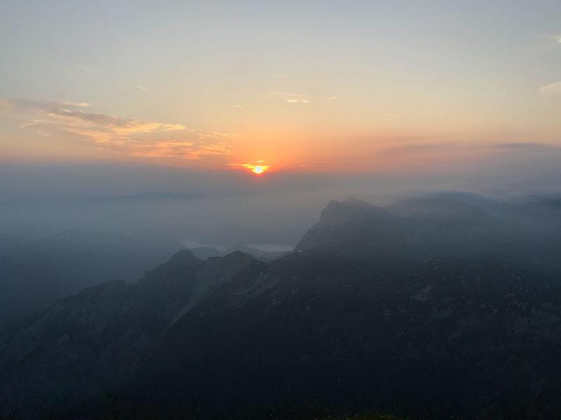 wschód słońca z Rinnerkogel