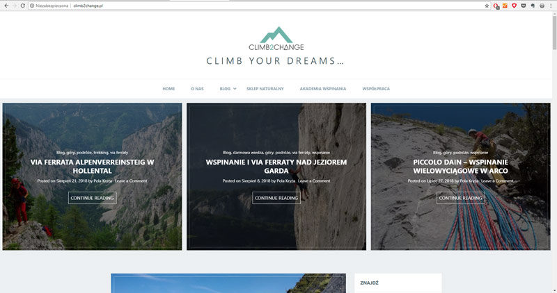Climb2change - blog o wspinaniu w alpach
