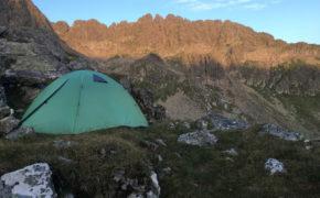 spanie pod namiotem w Austrii