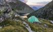 widok na namiot i Rauenbergsee