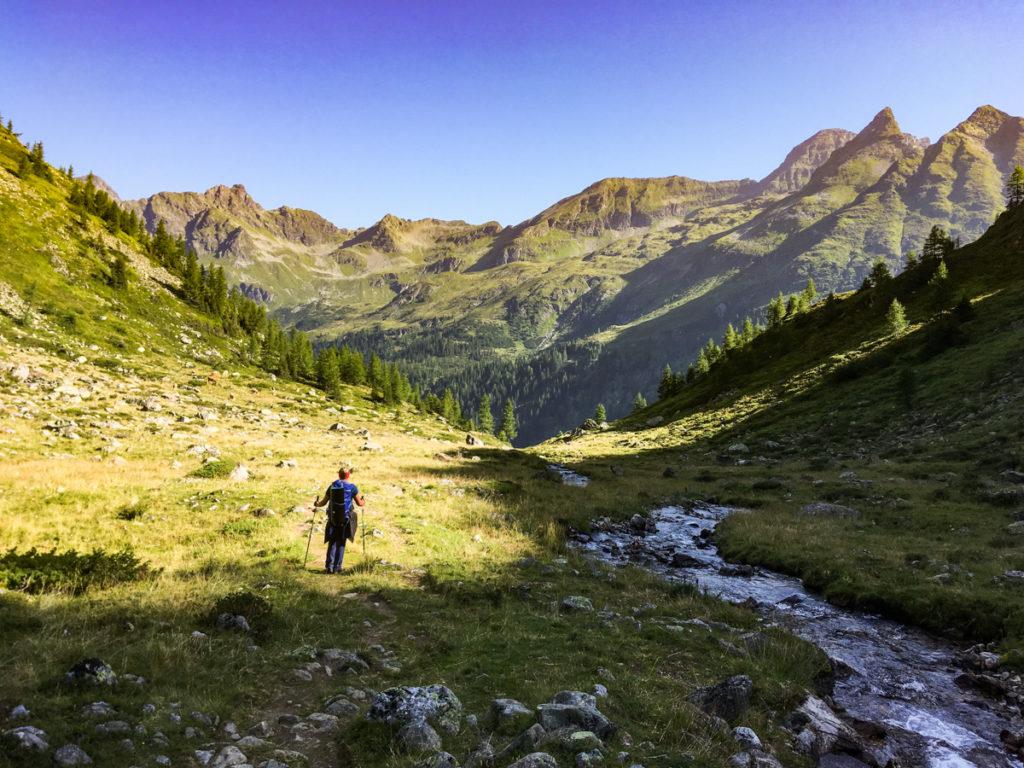 widok na szczyty Schladminger Tauern